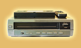 Old video cassette player Stock Photos