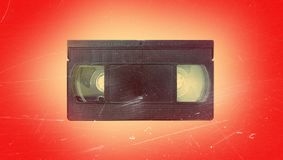 Old video cassette. Recorder vintage retro vhs 70s 80s 90s wallpaper background style fashion modern trend topical nostalgia cover shabby film Royalty Free Stock Photography