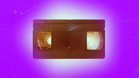 Old video cassette. Recorder vintage retro vhs 70s 80s 90s wallpaper background style fashion modern trend topical nostalgia cover shabby film Stock Photos