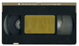 Old video cassette tape front Royalty Free Stock Images