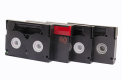 Old video cassettes. On white background isolated Stock Images