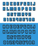 Old video game font Stock Image