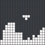 Old video game. Square template. White brick game pieces on dark background. Vector illustration Royalty Free Stock Image