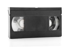 Old Video Tape. Over White Stock Image