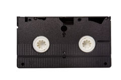 Old video tape isolated on white Royalty Free Stock Images