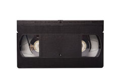 Old video tape isolated on white Stock Photo