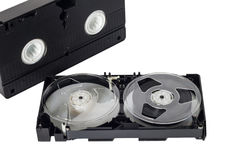 Old video tape Stock Images