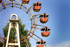 Old vienna. Wheel in chernobyl royalty free stock images