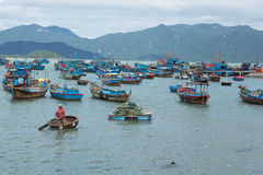 Old Vietnamese boat Thung Chai Royalty Free Stock Photography