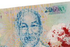 Old Vietnamese Dong, Vietnamese currency Royalty Free Stock Image