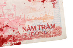 Old Vietnamese Dong, Vietnamese currency Royalty Free Stock Photo