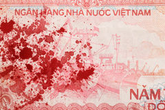 Old Vietnamese Dong, Vietnamese currency Stock Images