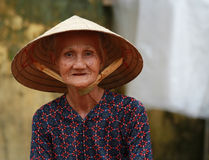 Old Vietnamese Woman Stock Photo