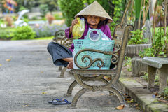 Old Vietnamese woman Stock Image