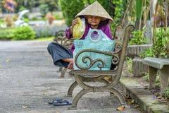 Old Vietnamese woman stock image