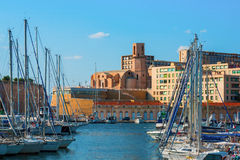 The old Vieux port of Marseille Royalty Free Stock Photo