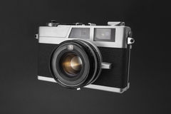 Old viewfinder camera on black background Royalty Free Stock Images