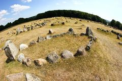 The old viking cemetery in Aalborg in Denmark royalty free stock photos