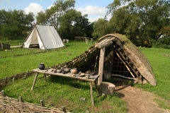 Old viking-settlement Royalty Free Stock Image
