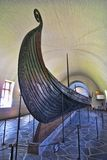 Old Viking Ship exposed in a Oslo Museum, Norway stock photo