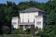 Old villa on forest slopes Stock Photography