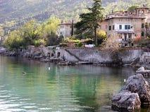 Old villa in Lovran at adriatic coastline Royalty Free Stock Images