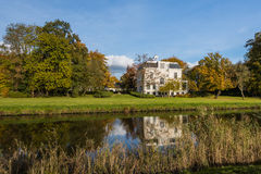Old villa on sunny day in autumn Royalty Free Stock Images
