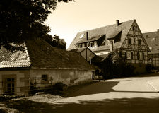 Old village. Vintage photo of small German village royalty free stock photo