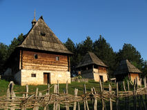 Old village. Old traditional village from Serbia Stock Image