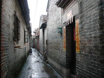 Old village. Old Chinese village which still staying people nowadays Royalty Free Stock Image