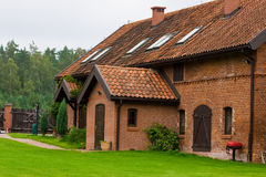 Old village. Home with red bricks Royalty Free Stock Photos