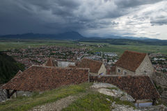 Old village. From above with storm approaching Royalty Free Stock Photography