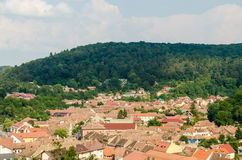 Old Village Aerial View Royalty Free Stock Image