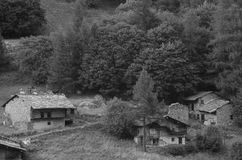 Old village in the Alps Royalty Free Stock Photography