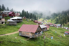 Old Village. Amazing village Bakhmaro in Georgia, is located in the district of Chokhatauri on the Meskheti mountain range in the Guria region. The majority of Royalty Free Stock Photo