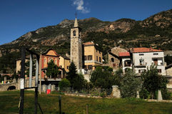 Old village in Aosta Valley, Italy Royalty Free Stock Image