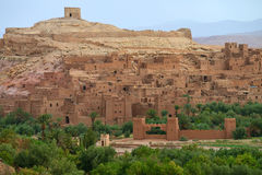 Old village in the Atlas Mountains. Ait-Ben-Haddou, Morocco - UNESCO World Heritage site stock photo