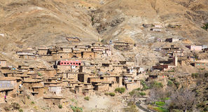 Old village in the Atlas Mountains. View of the old berber village in the Atlas Mountains, Morocco royalty free stock photo