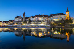 Old Village Bremgarten in Switzerland At Night Royalty Free Stock Photo