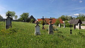 Old village cemetery Royalty Free Stock Photos