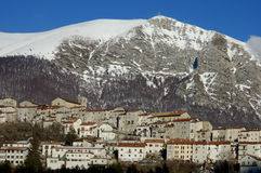 Old village in central apennines, Italy Stock Photo