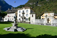 The old village of Cevio on Maggia valley Royalty Free Stock Photo