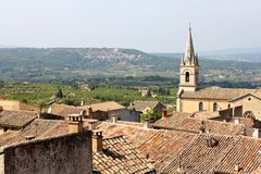 Old village church. In the French countryside Stock Photography