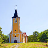 Old village church in rural Croatia Stock Images