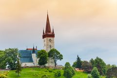 Old village church in Slovakia Royalty Free Stock Photos