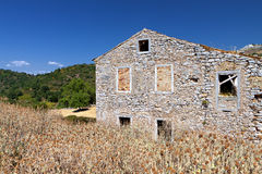 Old village at Corfu island in Greece Royalty Free Stock Images