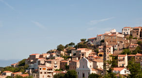 Old village in Corsica. In the morning time Royalty Free Stock Images