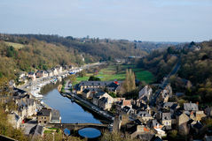 The old village of Dinan. Tourism medieval in Dinan, France Stock Image