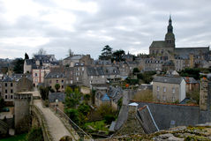 The old village of Dinan Stock Photo
