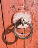 Old village door knock Royalty Free Stock Photo